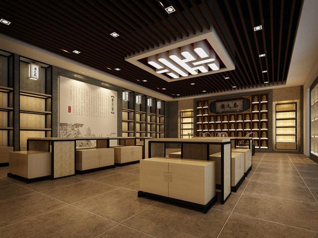 长沙茶叶专卖店铺装修色彩搭配和装修要点